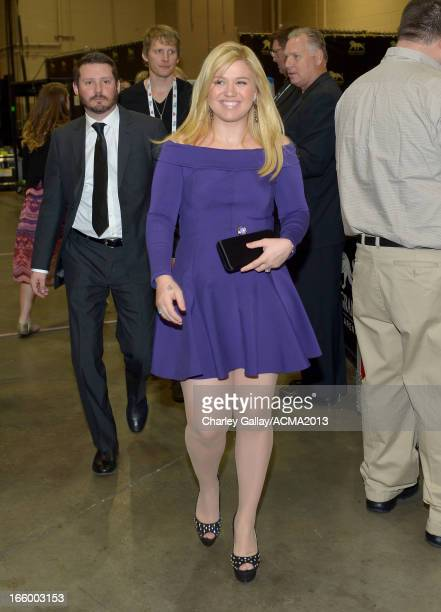 Singer Kelly Clarkson attends the 48th Annual Academy of Country Music Awards at the MGM Grand Garden Arena on April 7 2013 in Las Vegas Nevada