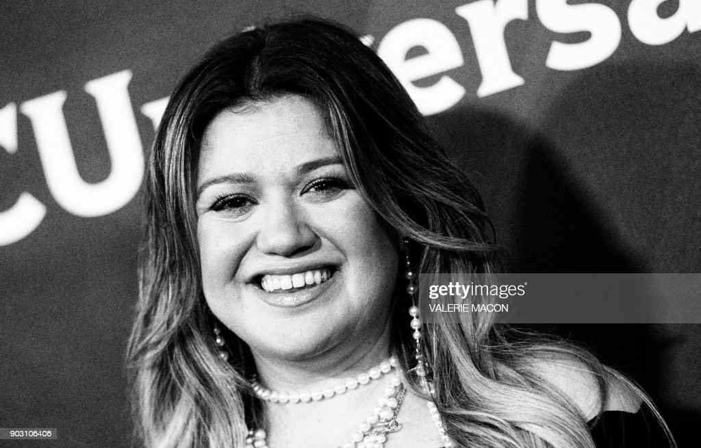 Singer Kelly Clarkson attends the NBC Universal TCA Winter Press Tour on January 9, 2018, in Pasadena, California. /