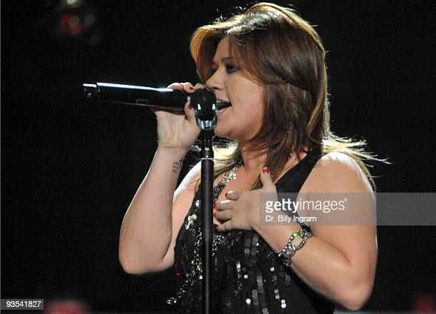 Singer Kelly Clarkson performs in concert at her All I Ever Wanted Tour at Save Mart Center at Fresno State on December 1 2009 in Fresno California