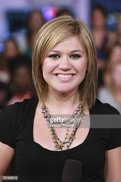 Singer Kelly Clarkson visits MuchOnDemand to talk about her Album My December at the Chum/City Building in Toronto Canada on August 20 2007