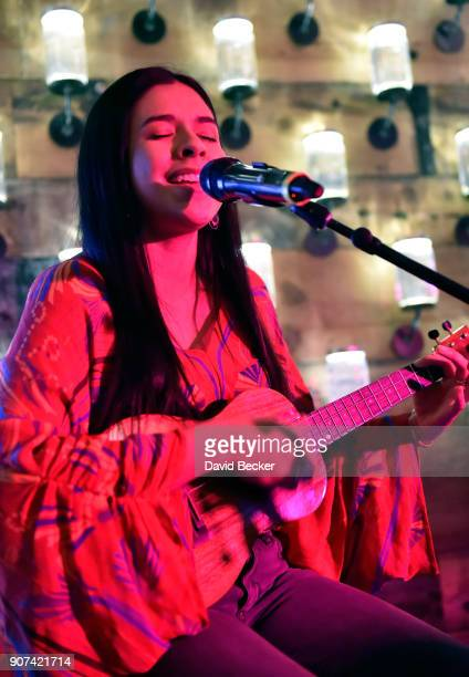 Singer Kelly Mija performs at Steelhouse and Eternal Front presents Beyond the Front Lines event during the 2018 Sundance Film Festival on January 19...