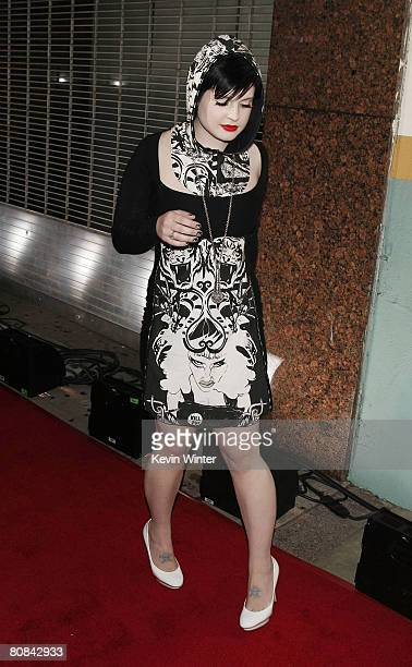 Singer Kelly Osbourne arrives at the 1st Annual US NME Awards at the El Rey Theater on April 23 2008 in Los Angeles California