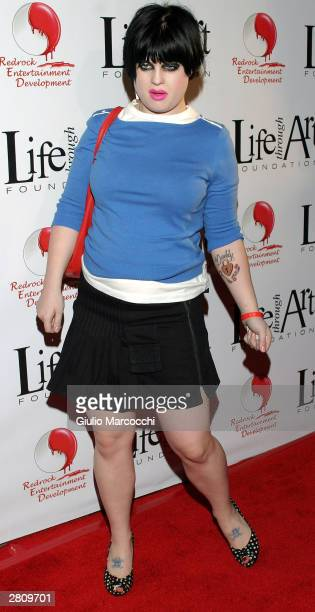 Singer Kelly Osbourne attends The Red Party on December 13 2003 in Beverly Hills California