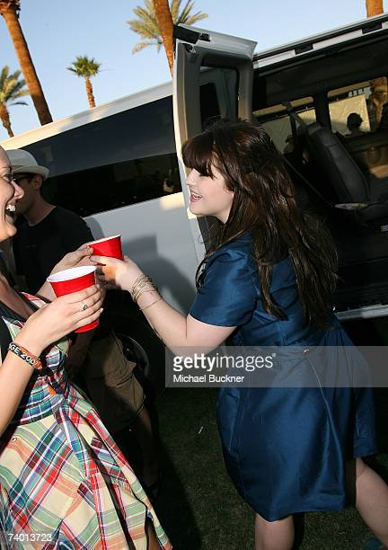 Singer Kelly Osbourne leaves the backstage area during day 1 of the Coachella Music Festival held at the Empire Polo Field on April 27 2007 in Indio...