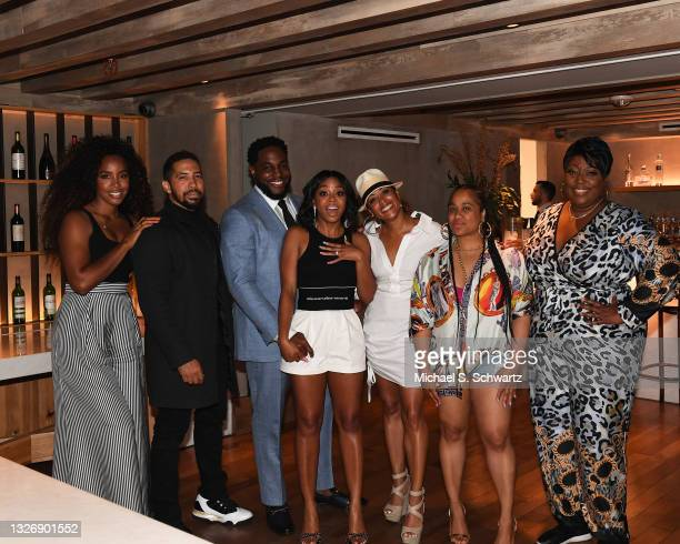 Singer Kelly Rowland, actor Neil Brown Jr., writer Nick Jones Jr., actress Bresha Webb, actress Essence Atkins, actress Angie Beyince, and comic Loni...