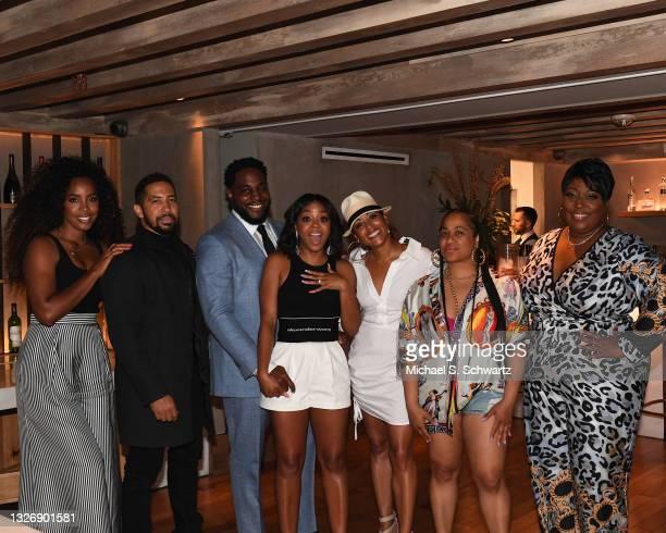 Singer Kelly Rowland, actor Neil Brown Jr., writer Nick Jones Jr., actress Bresha Webb, actress Essence Atkins, actress Angie Beyince, and Loni Love...