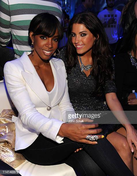 Singer Kelly Rowland and Yolanda Cabo attend the Samsung Infuse 4G For ATT Launch Event Featuring Nicki Minaj held at Milk Studios on May 12 2011 in...