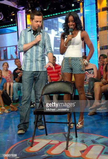 """Singer Kelly Rowland appears on MTV's """"TRL"""" at MTV Studios on July 3rd, in Times Square, New York."""