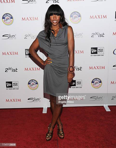 Singer Kelly Rowland arrives at Maxim's Hot 100 Party at Eden on May 11 2011 in Hollywood California