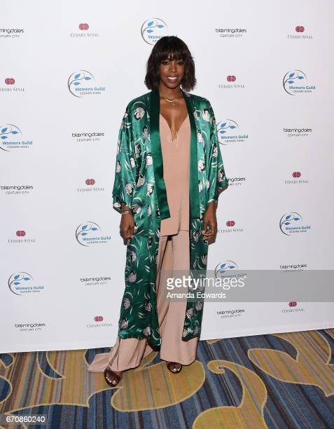 Singer Kelly Rowland arrives at the 2017 Women's Guild CedarsSinai Annual Spring Luncheon at the Beverly Wilshire Four Seasons Hotel on April 20 2017...