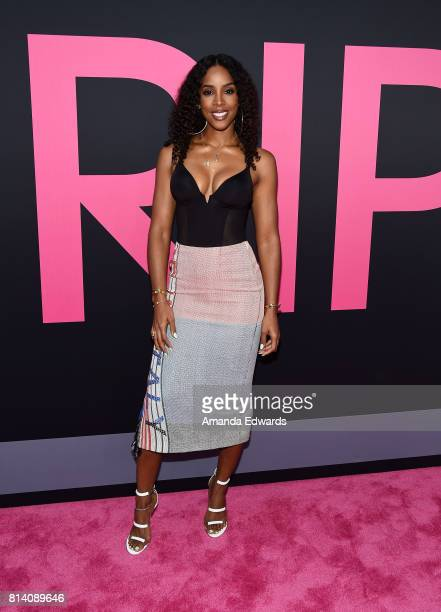 Singer Kelly Rowland arrives at the premiere of Universal Pictures' Girls Trip at the Regal LA Live Stadium 14 on July 13 2017 in Los Angeles...