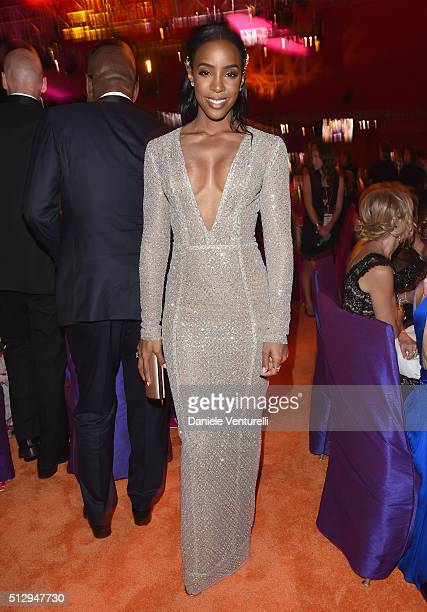 Singer Kelly Rowland attends Bulgari at the 24th Annual Elton John AIDS Foundation's Oscar Viewing Party at The City of West Hollywood Park on...