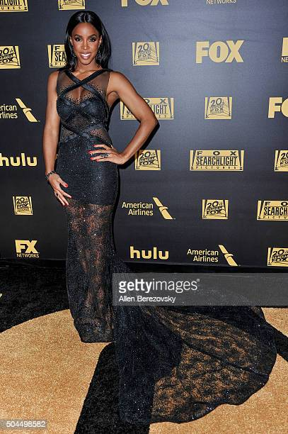 Singer Kelly Rowland attends Fox And FX's 2016 Golden Globe Awards Party on January 10 2016 in Beverly Hills California