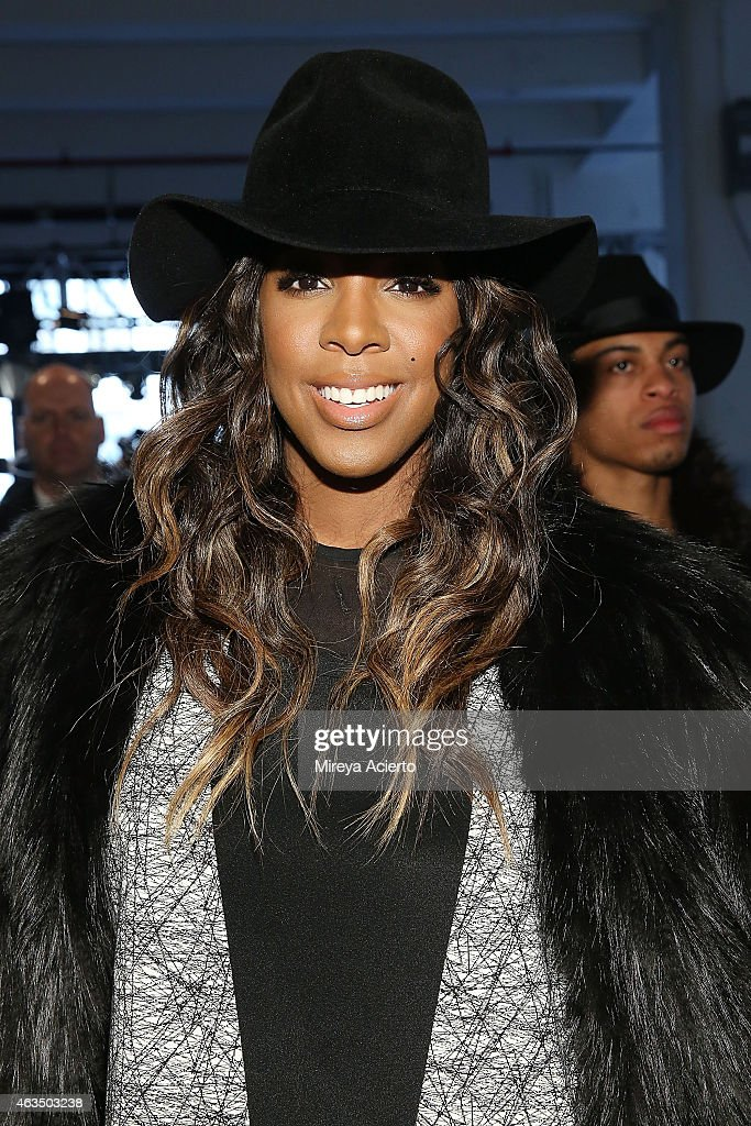 Singer Kelly Rowland attends Public School runway show during MADE Fashion Week Fall 2015 at Studio 330 on February 15, 2015 in New York City.