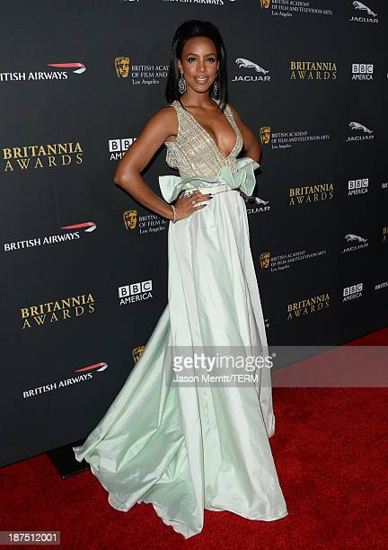 Singer Kelly Rowland attends the 2013 BAFTA LA Jaguar Britannia Awards presented by BBC America at The Beverly Hilton Hotel on November 9, 2013 in...