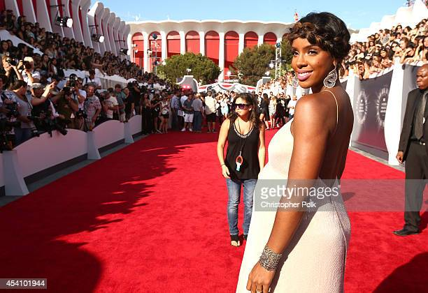 Singer Kelly Rowland attends the 2014 MTV Video Music Awards at The Forum on August 24 2014 in Inglewood California