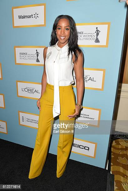 Singer Kelly Rowland attends the 2016 ESSENCE Black Women In Hollywood awards luncheon at the Beverly Wilshire Four Seasons Hotel on February 25 2016...