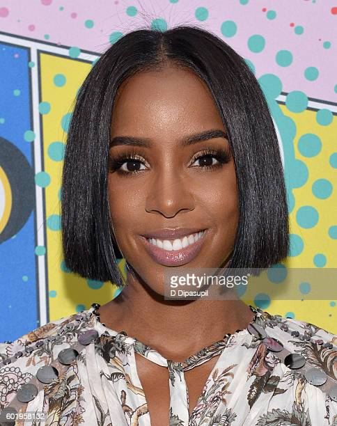 Singer Kelly Rowland attends the 2016 Essence Street Style Block Party at DUMBO on September 10 2016 in Brooklyn Borough of New York City