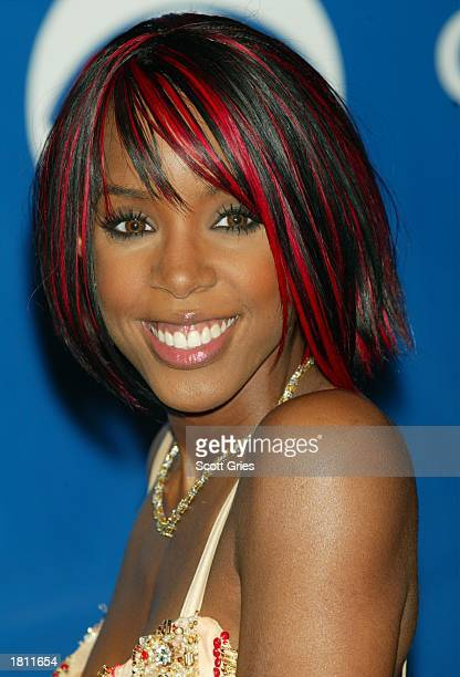 Singer Kelly Rowland attends the 45th Annual Grammy Awards at Madison Square Garden on February 23 2003 in New York City