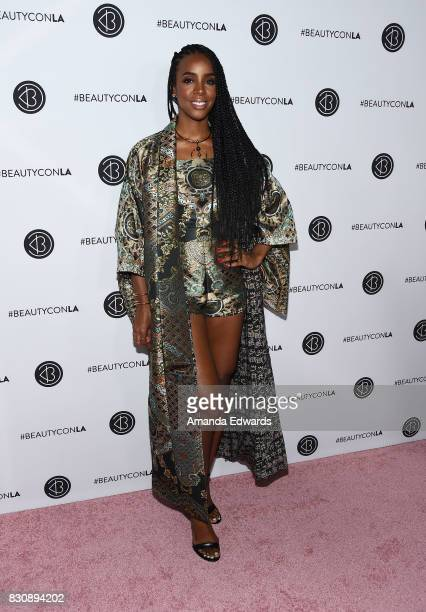 Singer Kelly Rowland attends the 5th Annual Beautycon Festival Los Angeles at the Los Angeles Convention Center on August 12 2017 in Los Angeles...