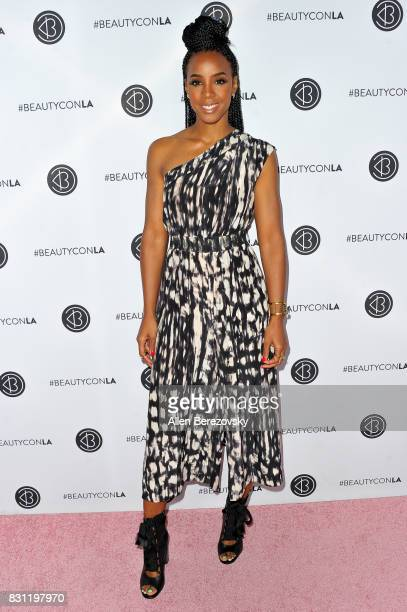 Singer Kelly Rowland attends the 5th Annual Beautycon Festival Los Angeles at Los Angeles Convention Center on August 13 2017 in Los Angeles...