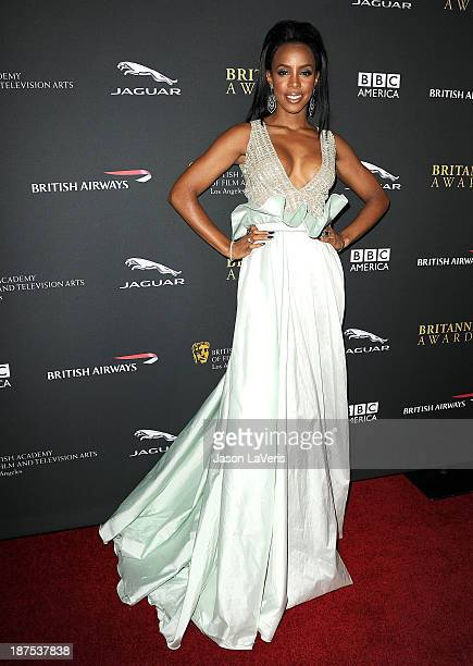 Singer Kelly Rowland attends the BAFTA Los Angeles Britannia Awards at The Beverly Hilton Hotel on November 9 2013 in Beverly Hills California