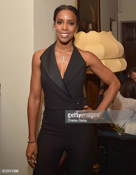Singer Kelly Rowland attends the Cadillac Oscar Week Celebration at Chateau Marmont on February 25 2016 in Los Angeles California