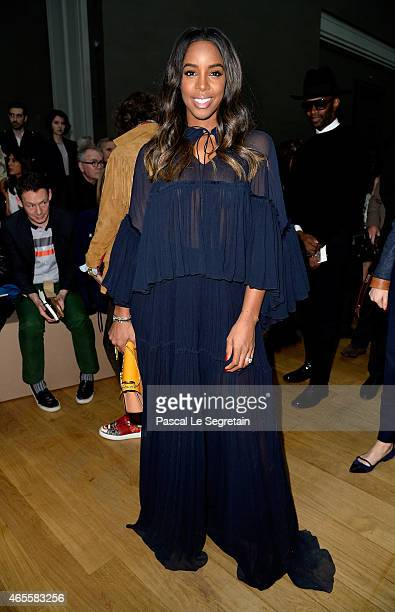 Singer Kelly Rowland attends the Chloe show as part of the Paris Fashion Week Womenswear Fall/Winter 2015/2016 on March 8 2015 in Paris France