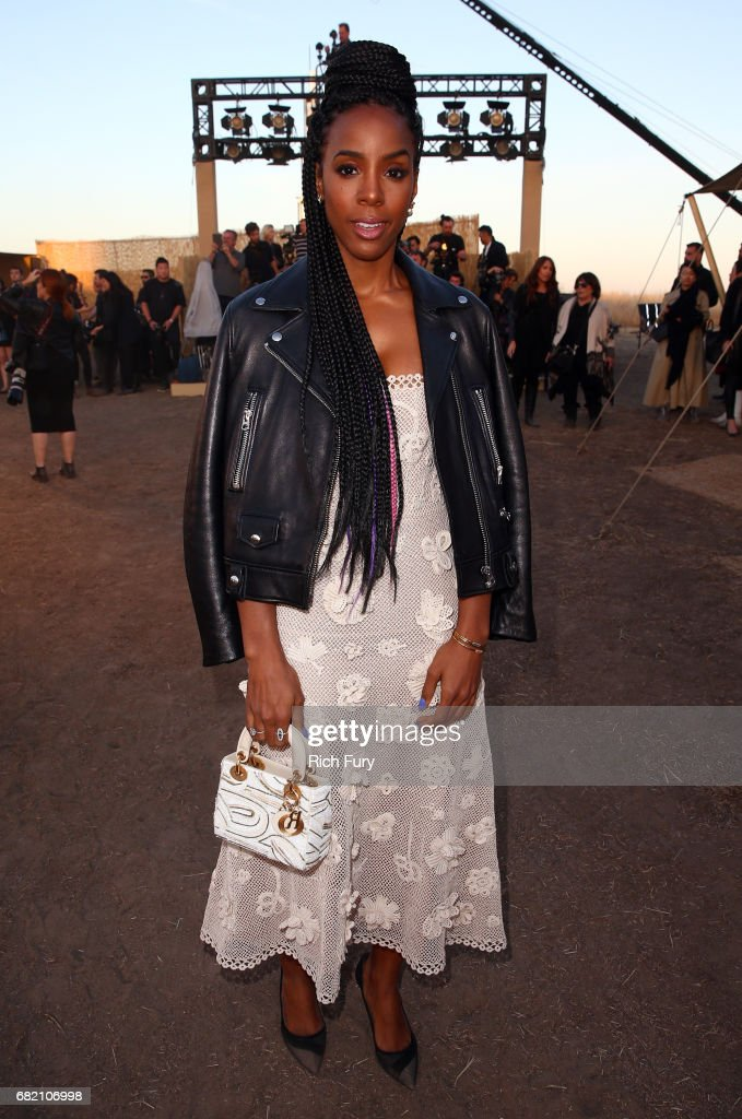 Singer Kelly Rowland attends the Christian Dior Cruise 2018 Runway Show at the Upper Las Virgenes Canyon Open Space Preserve on May 11, 2017 in Santa Monica, California.