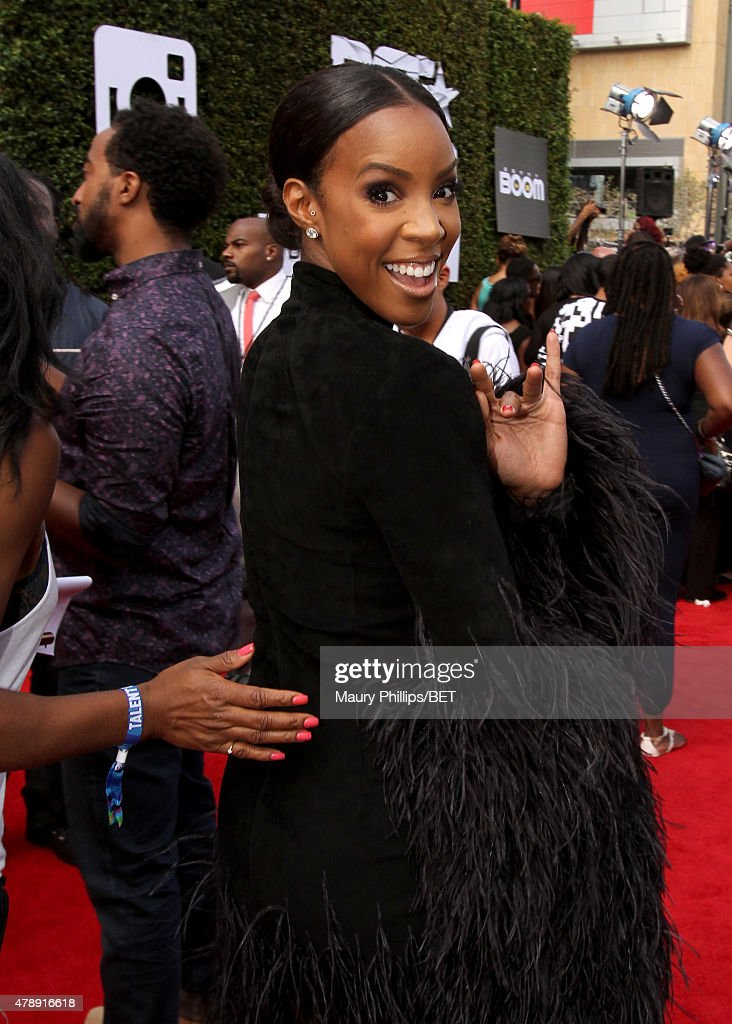 Singer Kelly Rowland attends the Nissan red carpet during the 2015 BET Awards at the Microsoft Theater on June 28, 2015 in Los Angeles, California.