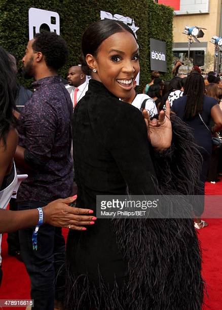 Singer Kelly Rowland attends the Nissan red carpet during the 2015 BET Awards at the Microsoft Theater on June 28 2015 in Los Angeles California