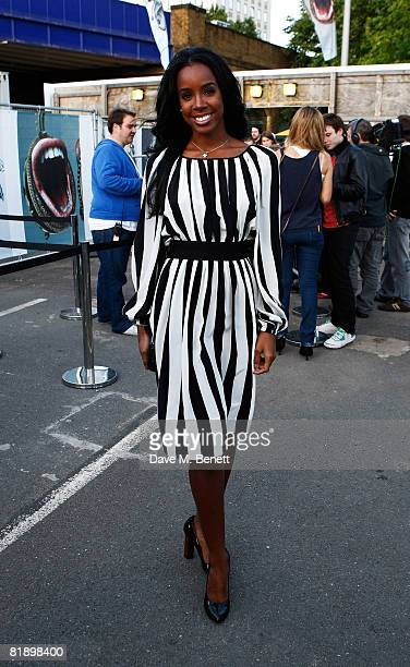 Singer Kelly Rowland attends the Nokia Skate Almighty - VIP Launch Night on July 10, 1008 in London, England.
