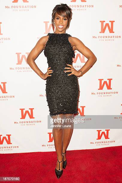 Singer Kelly Rowland attends Women LA's celebration of the 40th anniversary of the Ms Foundation for Women and the 80th birthday of Gloria Steinem at...