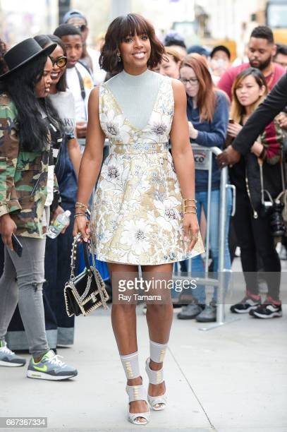 Singer Kelly Rowland leaves the AOL Build taping at the AOL Studios on April 11 2017 in New York City