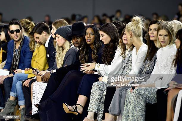 Singer Kelly Rowland Lorde and guests attend the Chloe show as part of the Paris Fashion Week Womenswear Fall/Winter 2015/2016 on March 8, 2015 in...