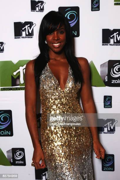 Singer Kelly Rowland poses backstage at the MTV Africa Music Awards 2008 at the Abuja Velodrome on November 22, 2008 in Abuja, Nigeria.