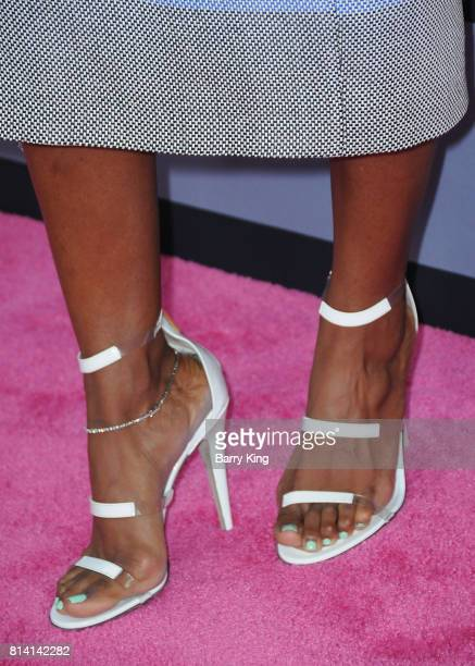 Singer Kelly Rowland shoe detail attends the premiere of Universal Pictures' 'Girls Trip' at Regal LA Live Stadium 14 on July 13 2017 in Los Angeles...