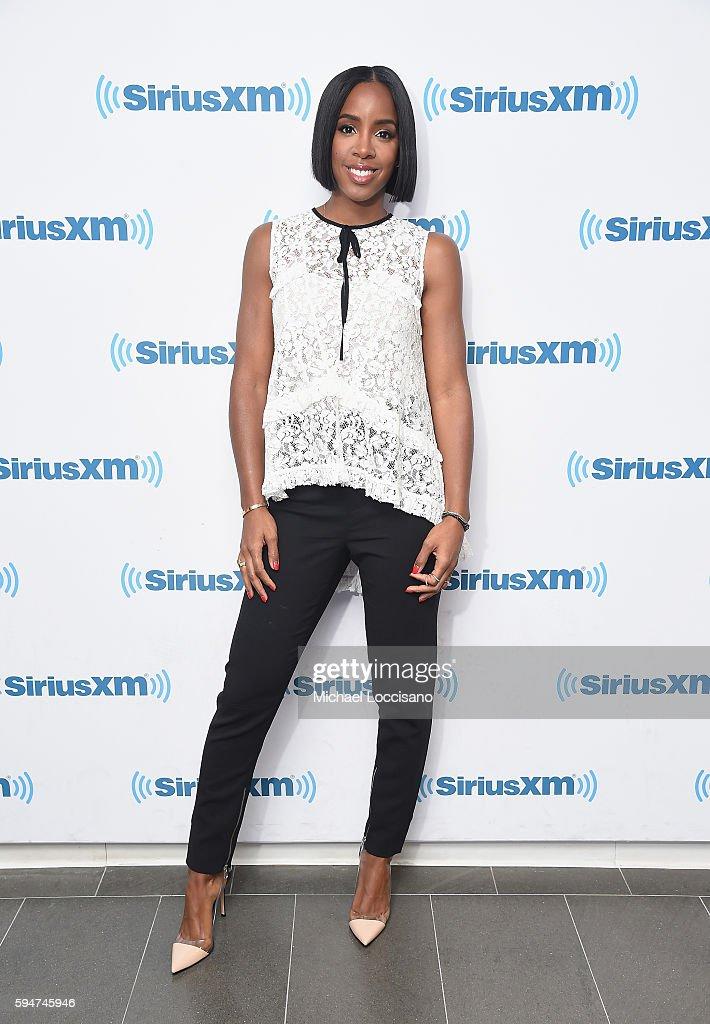Celebrities Visit SiriusXM - August 24, 2016 : News Photo