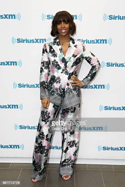Singer Kelly Rowland visits the SiriusXM Studios on April 11 2017 in New York City