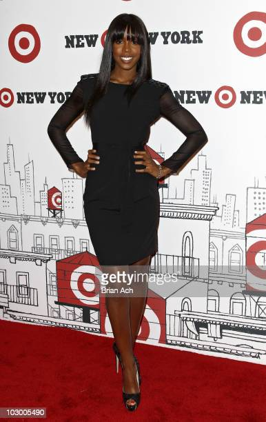 Singer Kelly Rownland attends the grand opening of Target East Harlem on July 20 2010 in New York City
