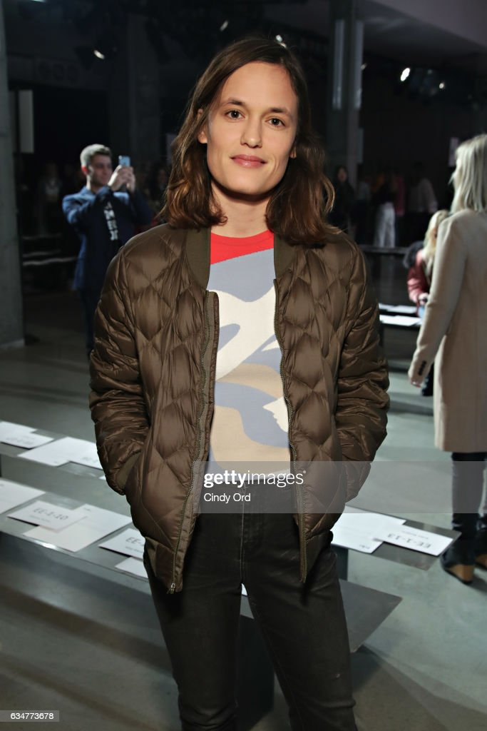 Singer Kelly Zutrau attends the Tibi fashion show during New York Fashion Week on February 11, 2017 in New York City.