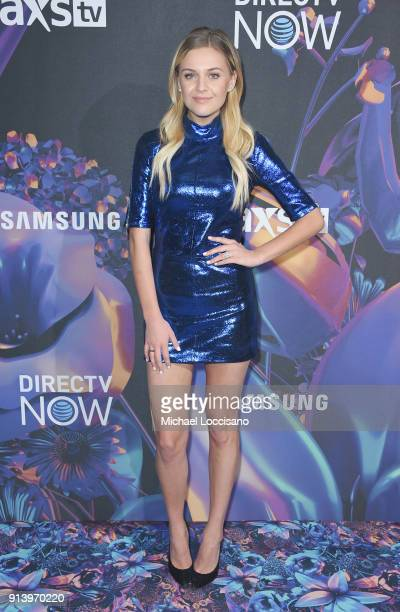 Singer Kelsea Ballerini attends the 2018 DIRECTV NOW Super Saturday Night Concert at NOMADIC LIVE at The Armory on February 3 2018 in Minneapolis...