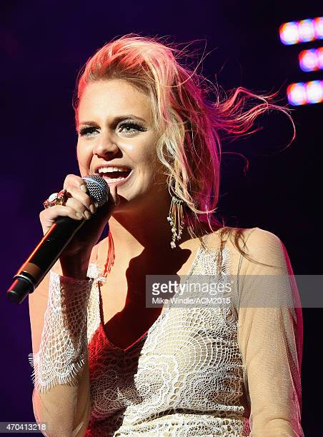 Singer Kelsea Ballerini performs onstage during the 50th Academy Of Country Music Awards All Star Jam at ATT Stadium on April 19 2015 in Arlington...