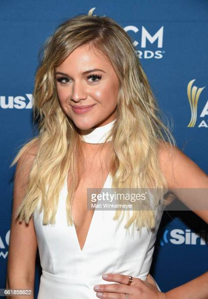 Singer Kelsea Ballerini poses at SiriusXM's The Highway Channel broadcast backstage leading up to the Academy of Country Music Awards at TMobile...
