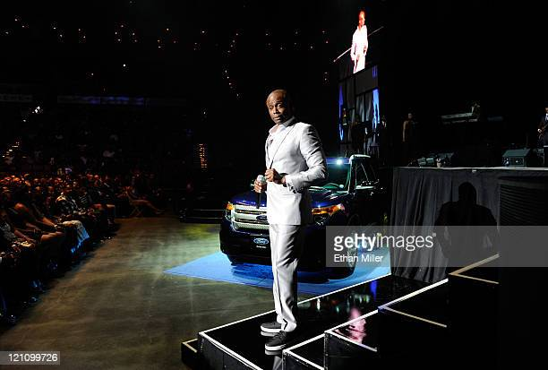 Singer KEM performs onstage during the ninth annual Ford Hoodie Awards at the Mandalay Bay Events Center August 13, 2011 in Las Vegas, Nevada.