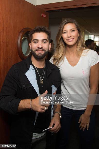 Singer Kendji Girac and Camille Cerf attend the Aurel BGC Charity Benefit Day 2017 on September 11 2017 in Paris France