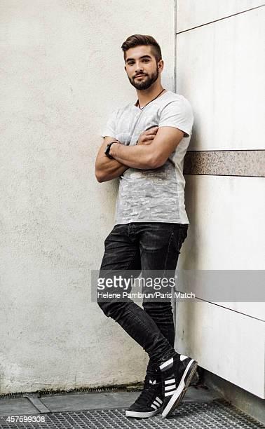 Singer Kendji Girac is photographed for Paris Match on September 9 2014 in Paris France
