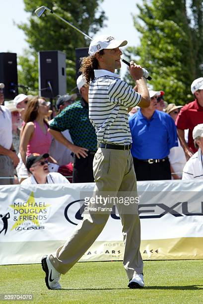 Singer Kenny G tees off at the Sixth Annual Michael Douglas Friends celebrity golf event held at the Cascata golf course