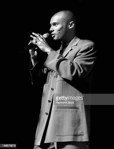 Singer Kenny Lattimore performs at the Arie Crown Theater in Chicago Illinois in JUNE 1996
