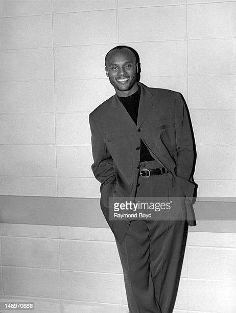 Singer Kenny Lattimore poses for photos backstage at the Arie Crown Theater in Chicago Illinois in JUNE 1996